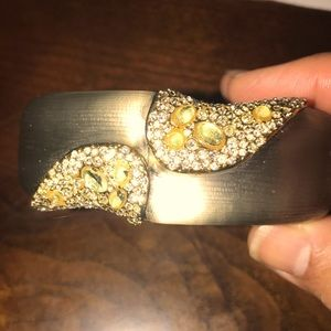 Alexis Bittar lucite bracelet with crystals